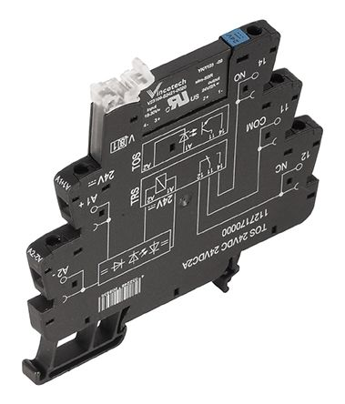TOS Series 230V DIN Rail Interface Relay Module, SPDT, Screw product photo
