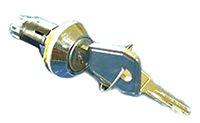 IP66, IP67 Keylock Switch, Double Pole Single Throw (DPST), 1 A @ 115 V ac 1-Way, -20 -> +65°C product photo
