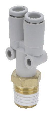 SMC KQ2U08-02AS Пневматический Y переходник с резьбы на трубу