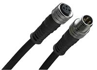 120007 Series, Straight M12 to Straight M12 Cable assembly, 4 Core , 2m Cable product photo