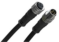 120007 Series, Straight M12 to Straight M12 Cable assembly, 4 Core , 600mm Cable product photo