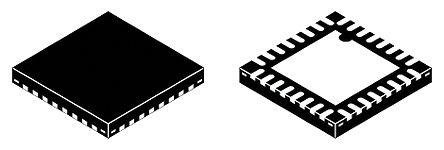 PCM5242RHBT, Audio Converter DAC Dual 32 bit-, 384kHz Serial (3 Wire, I2C, SPI), 32-Pin VQFN