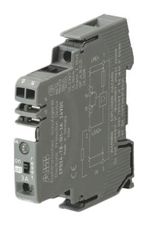 ABB 2CDE601101R2905, 500 mA, DIN Rail Mount 24V EPD24 Electronic Circuit breaker