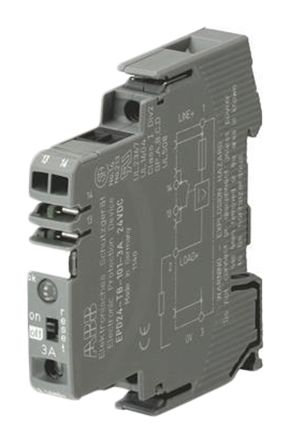 ABB 2CDE601101R2003, 3 A, DIN Rail Mount 24V EPD24 Electronic Circuit breaker
