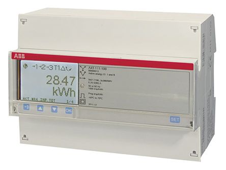 ABB A LCD Digital Power Meter, 3 Phase , Class 1 % Accuracy