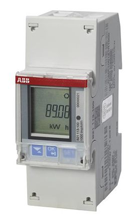 ABB B LCD Digital Power Meter, 6-Digits, 1 Phase , Class 1 % Accuracy
