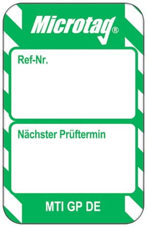 Microtag Next Test Insert,Green,German