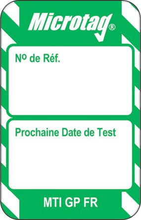 Microtag Next Test Insert,Green,French