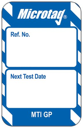Microtag Next Test Insert,Blue,English