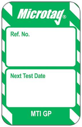 Microtag Next Test Insert,Green,English
