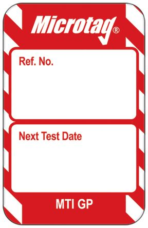 Microtag Next Test Insert,Red,English