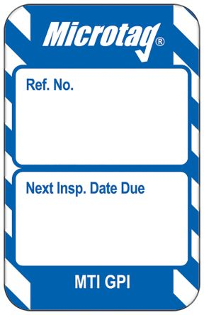 Microtag Next Inspection,Blue,English