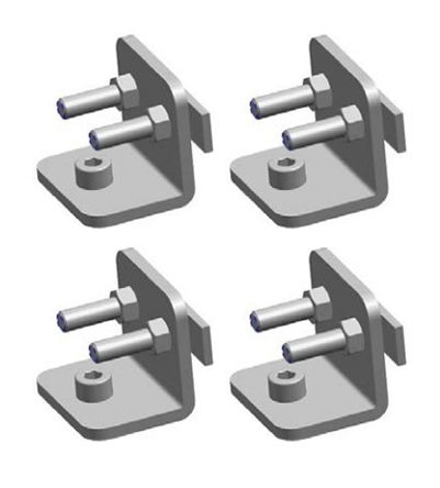 ABB 2TLA022310R0400 Mounting Kit, For Use With Orion1 Base, Orion1 Extended, Orion2 Base, Orion2 Extended