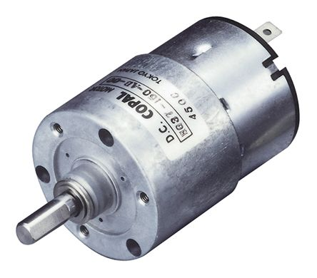 Copal Electronics, 12 V dc, 588 mNm DC Geared Motor, Output Speed 14.5 rpm
