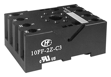 10ff 2z c3 hongfa europe gmbh 8 pin relay socket din rail for use rh uk rs online com