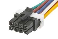 Micro-Fit 45132 Series Number Wire to Board Cable Assembly 2 Row, 8 Way 2 Row 8 Way, 1m product photo