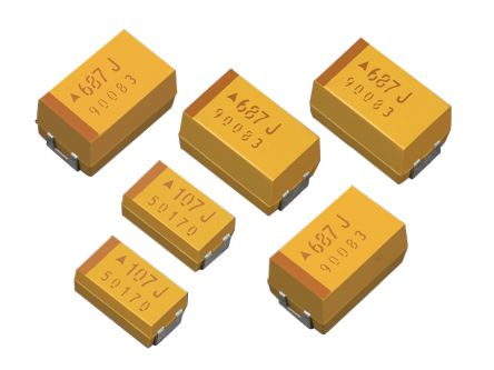 AVX Tantalum Capacitor 100μF 10V dc Electrolytic Solid ±10% Tolerance , TPS