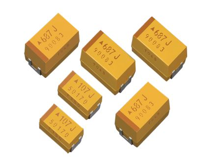 AVX 100μF 10V dc Electrolytic Capacitor Electrolytic Solid ±20% Tolerance TPS Series