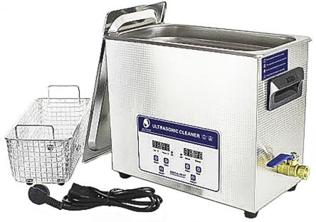 Ultrasonic Cleaner, 200W, 6.5L with Lid product photo