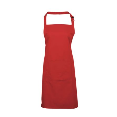 RS PRO Red Cotton, Polyester Reusable Apron 860mm
