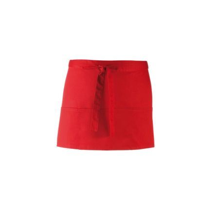 Red Cotton, Polyester Reusable 330mm Apron product photo
