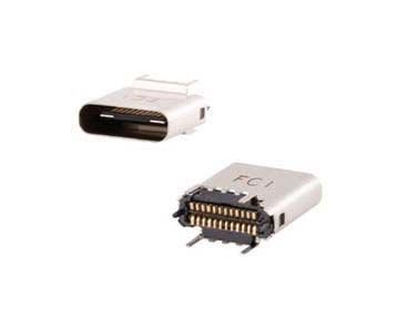 10132328-10011LF Female USB C Connector, Vertical Through Hole
