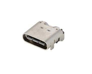 10137065-00021LF Female USB C Connector, Right Angle Surface Mount