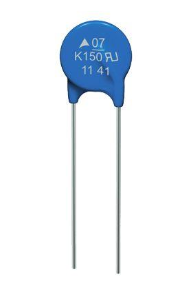 EPCOS, Standard Disc Varistor 2.75nF 2.5A, Clamping 36V, Varistor 18V