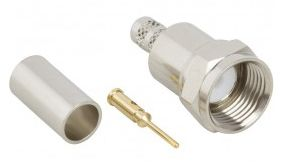 Amphenol Straight Cable Mount Mount 75Ω F type Connector, Plug, Crimp Termination, 2GHz