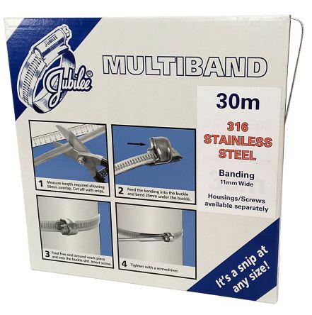 Jubilee Stainless Steel Hex Screw, 11mm Band Width, 40mm - 1000mm Inside Diameter