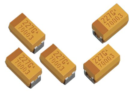 AVX 100μF 10V dc Electrolytic Capacitor Electrolytic Solid ±20% Tolerance TLJ Series