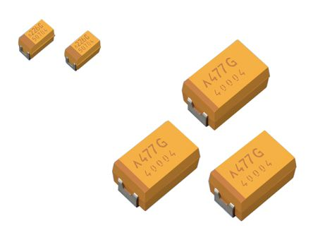 AVX Electrolytic Capacitor 47μF 6.3V dc Polymer Solid ±20% Tolerance TCJ Series