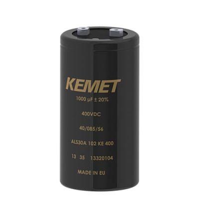 KEMET 51000μF 100V dc Aluminium Capacitor, Chassis Mount 77 (Dia.) x 105mm +85°C 77mm 31.8mm