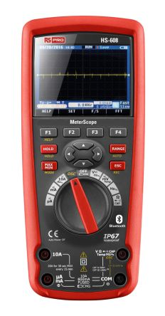 RS Pro HS-608, Meterbox Pro Handheld Digital Multimeter with Bluetooth, 10A ac 1000V ac 10A dc 1000V dc
