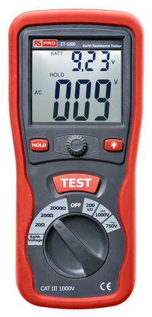 ET5300 Earth & Ground Resistance Tester 2kO CAT III 1000 V UKAS Calibration product photo