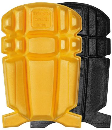 Snickers Yellow/Black Polyethylene (PE) Trouser Knee Pocket Knee Pad Resistant to Cut