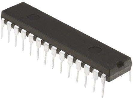 Microchip PIC16F19156-I/SP, 8bit 8 bit CPU Microcontroller, 32MHz, 28 kB Flash, 28-Pin SPDIP