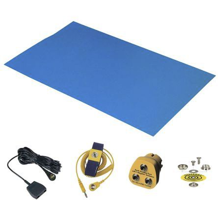 Worksurface ESD-Safe Mat Kit, 1.2 (Worksurface Mat)m x 0.6 (Worksurface Mat)m x 1.5 (Worksurface Mat)mm