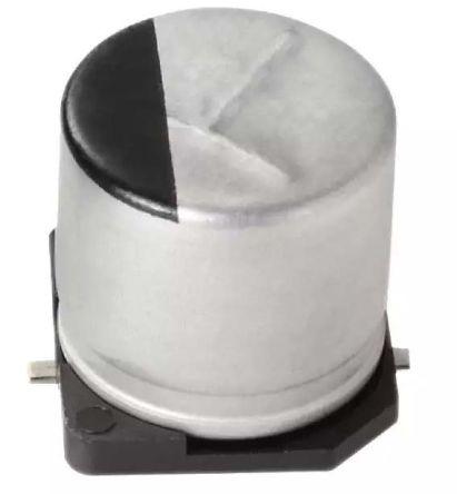 Panasonic Aluminium Electrolytic Capacitor 1000μF 25V dc 10mm Solder FT Series Aluminium Electrolytic, Surface Mount
