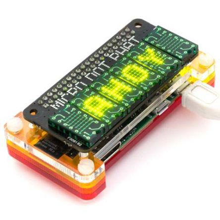 Pimoroni PIM186, Micro Dot pHAT LED Matrix Display Development Board With PIM182 for HATs, pHATs