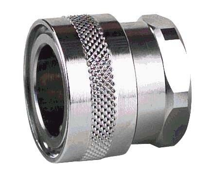 Straight Hose Coupling 3/4in Coupler to Threaded, 3/4 in BSP Female, Stainless Steel