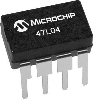 Microchip, 47L04-I/P SRAM, 4kbit 8-Pin DIP