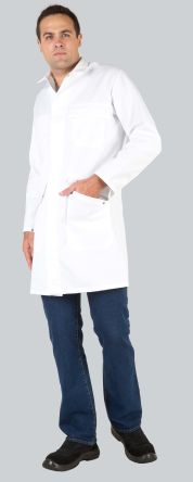 060BH91ASBLANC3 White Reusable Coat, L product photo
