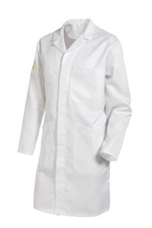 Muzelle Dulac White Men Reusable Lab Coat, L