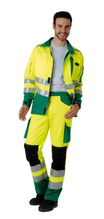 Roady Green, Yellow Hi-Vis Men's Cotton, Polyester Trousers product photo