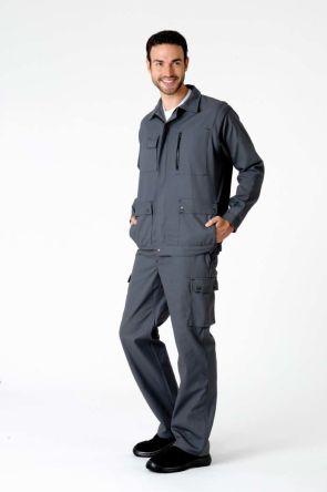 Jarnioux Plus Grey Men's Cotton Trousers product photo