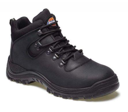Dickies Redland II Black Steel Toe Cap Safety Boots, UK 6, EU 40