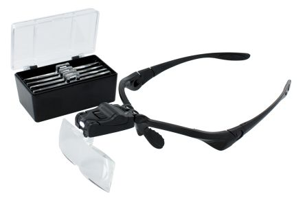 RS PRO Illuminated Double Lens Magnifier, 1 X, 1.5 X, 2 X, 2.5 X, 3.5 X x Magnification
