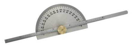 RS PRO Both Protractor, 190mm Stainless Steel Blade