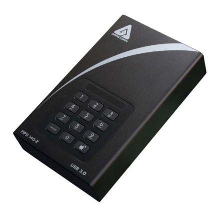 Apricorn Aegis Padlock DT Black 2 TB Portable Hard Drive